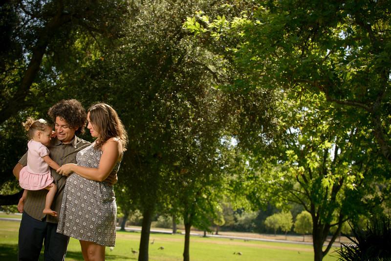 Christina, Jaime and Mila (Maternity / Family Photography) @ Vasona Park, Los Gatos.