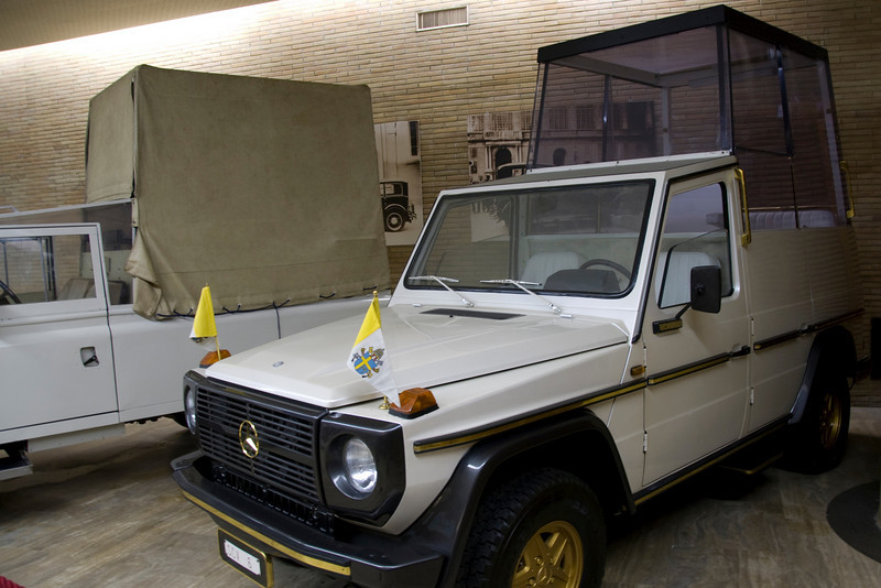 Popemobile on exhibit at the Vatican Museum - Rome, Italy