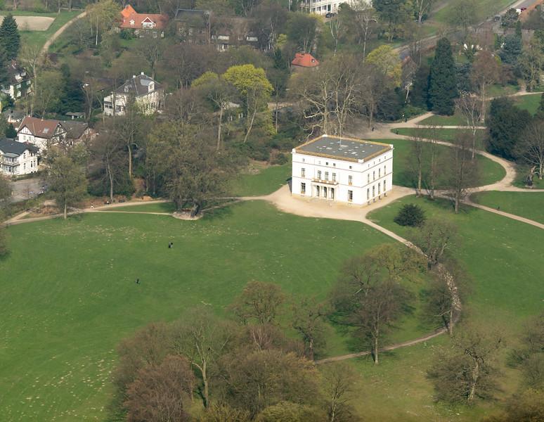 Jenischpark und Jenisch haus Luftbild