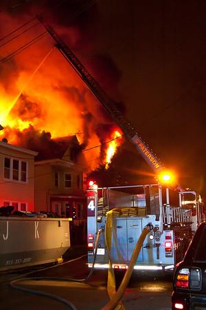 Paterson NJ 4th alarm, 327 Hamilton Ave. 06-30-15