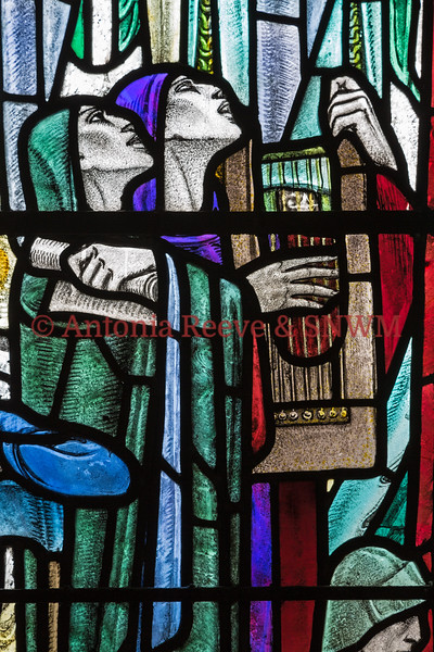 Detail of Shrine window 3, Knowledge and Music