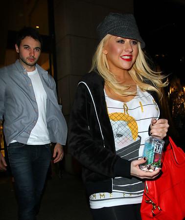 2011-05-07 - Christina Aguilera, Matt Rutler