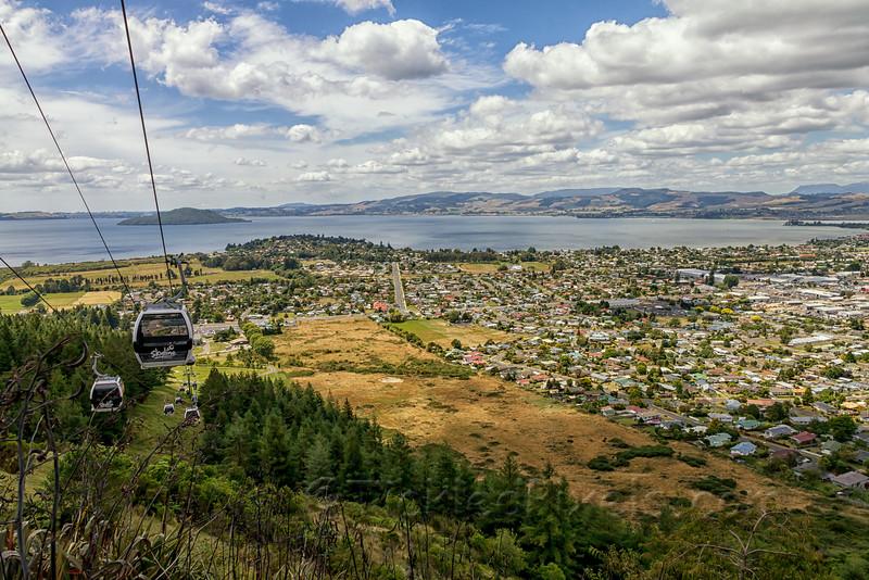 Gondola Cableway Above Rotorua