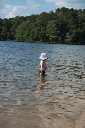 "Robert goes to the ""beach"" at Lake Lurleen"