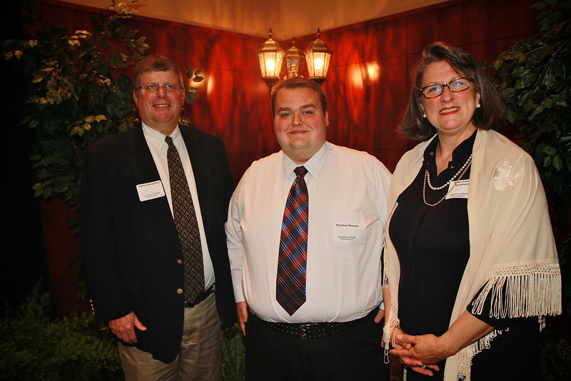 Scholarship Luncheon; Spring 2013. Jeff and Betsy Gaston Haughton with Stephen Thomas