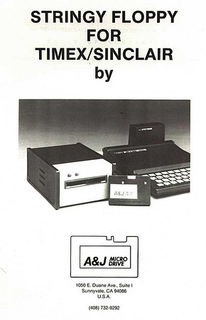 Timex Sinclair Stringy Floppy by A&J Microdrive