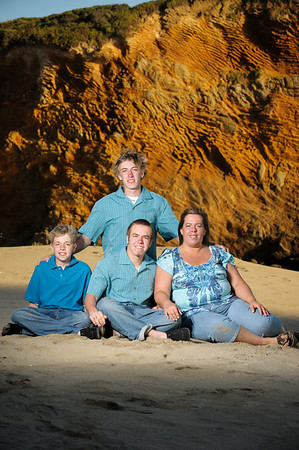The Ostermillers (Family Photography, Panther Beach, Santa Cruz, California)