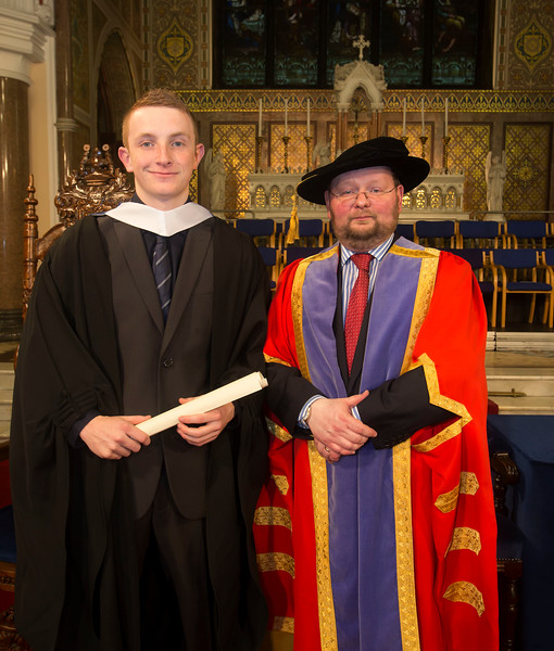Pictured is Lee Thornton from Waterford who graduated Bachelor Bachelor of Business, also in photo is Dr. Derek O'Byrne, Registrar of Waterford Institute of Technology (WIT). Picture: Patrick Browne