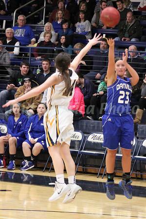 Girls Basketball, Danville vs Notre Dame 1/7/2014