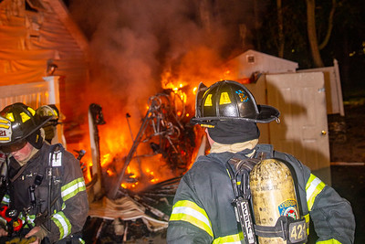 Evergreen Ave Shed Fire 8/14/20