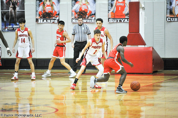 Boys Basketball action