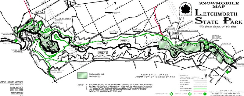 Letchworth State Park (Snowmobile Map)