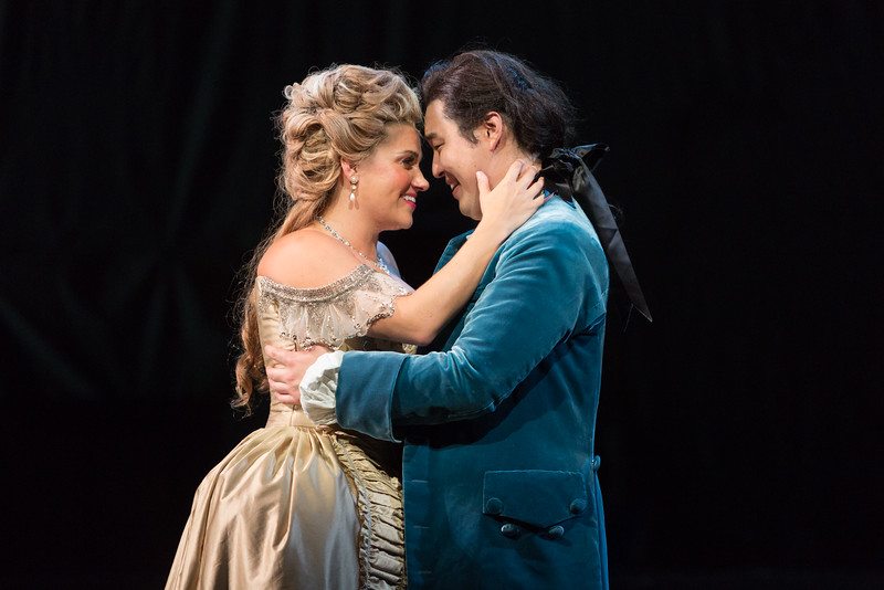 """Kathryn Lewek as Cunegonde and Andrew Stenson as Candide in The Glimmerglass Festival's 2015 production of Bernstein's """"Candide."""" Photo: Karli Cadel/The Glimmerglass Festival."""