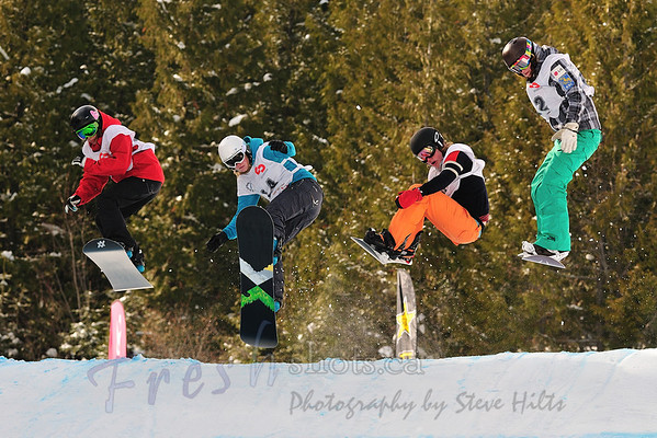 2011 FIS BC Snowboard Cross @ Red