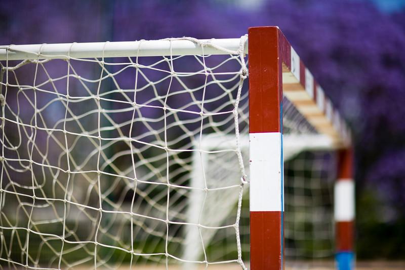 Five-a-side football goal, Seville, Spain