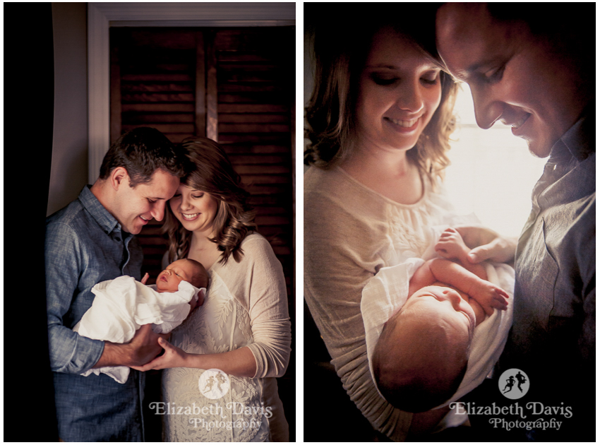 New baby photo session | candid, natural family photos | Tallahassee | Elizabeth Davis Photography