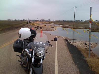 San Luis Pass / Surfside Highway Post Ike