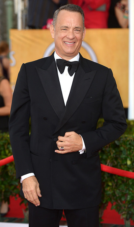 . Tom Hanks arrives at the 20th Annual Screen Actors Guild Awards  at the Shrine Auditorium in Los Angeles, California on Saturday January 18, 2014 (Photo by Michael Owen Baker / Los Angeles Daily News)