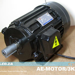 SKU: AE-MOTOR/3KW, Generic 3kW Motor for Dust Collector and Vacuum Pump etc, 220V (Need Extra Capacitor) or 380V (Native)