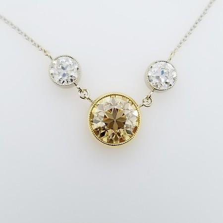 "The ""Martha"" OEC Moissanite Three Stone Necklace"
