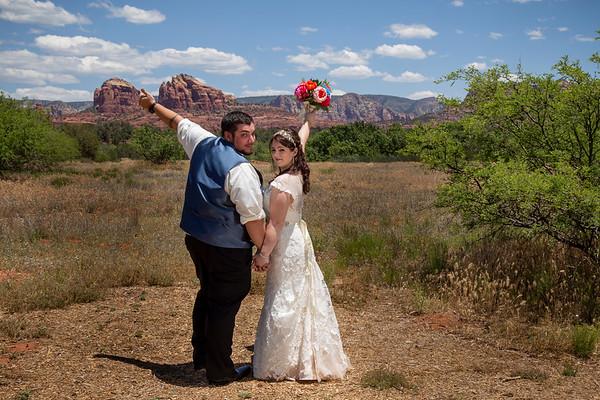 Caitlin and Christopher's Sedona Wedding