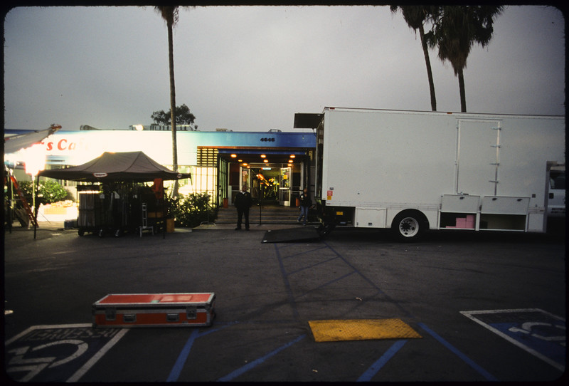 Shooting commercial for The Gap, Los Angeles, 2004