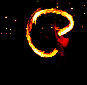 Light trails - Fire spinning performance