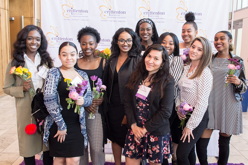 Crittenton Teens with staff member, Isabella Wise (Center, Front)