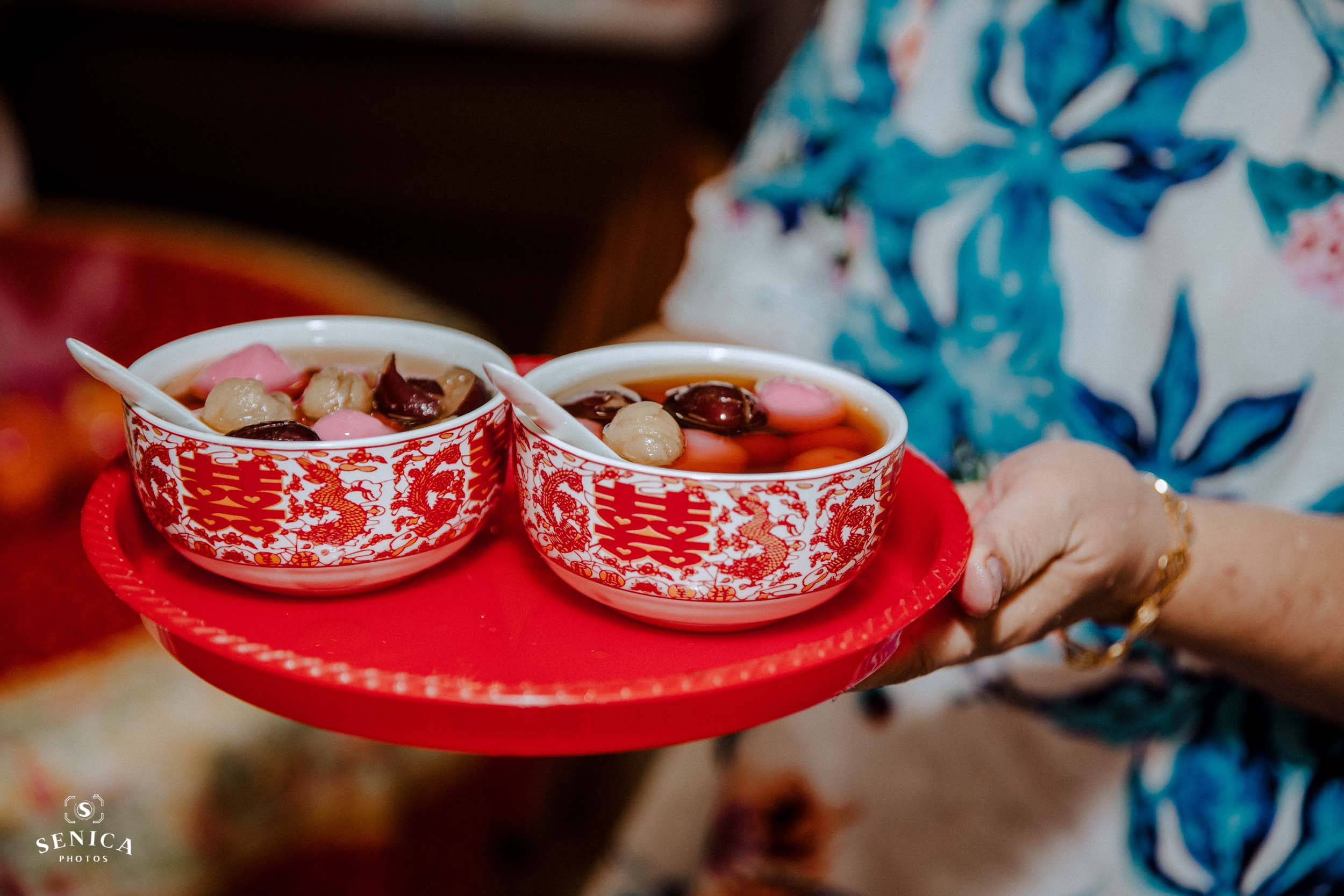 two bowls of sweet soup