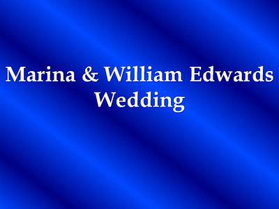 Marina and William Edwards Wedding