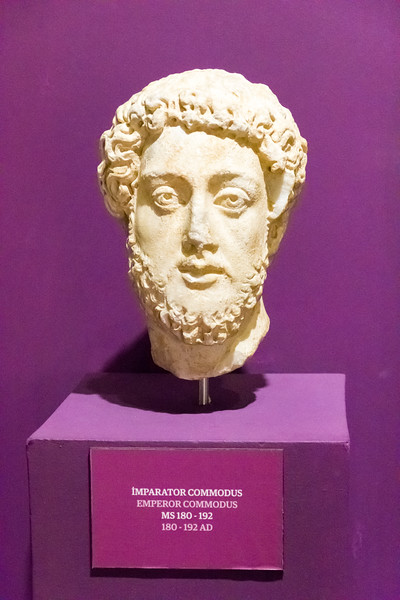 Emperor Commodus. For someone who was only 12 years old, he had a lot of facial hair.