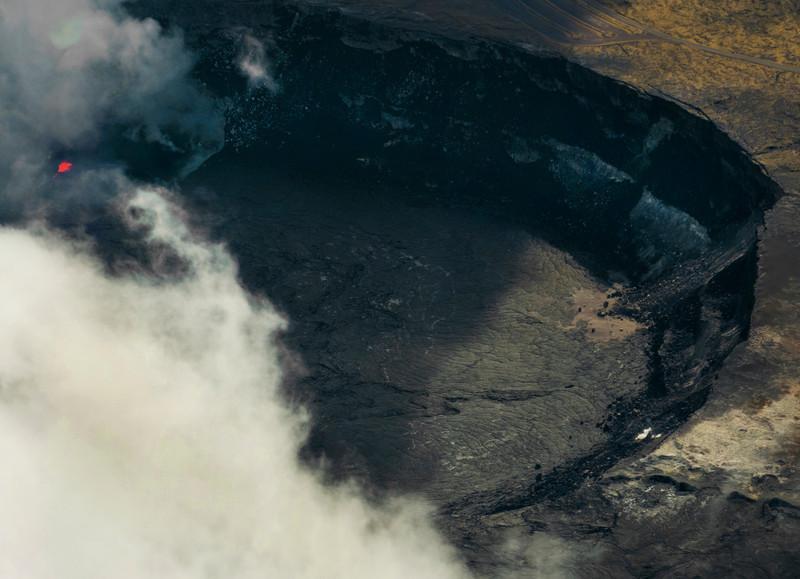 The caldera at Kilauea.