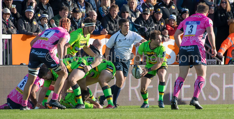 Exeter Chiefs vs Northampton Saints, Anglo Welsh Cup, Sandy Park, 4 November 2017