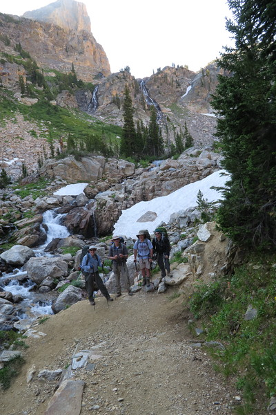 James (me), Greg, David and Wilson in Upper South Cascade Canyon
