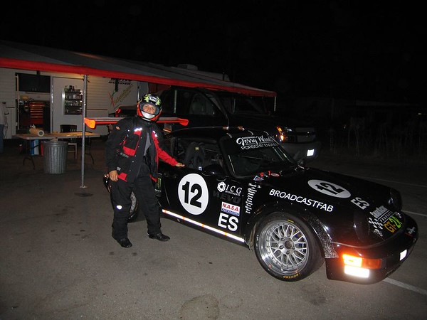 Finishing touches on Bob Stefanowicz Porsche, getting ready for Thunderhill