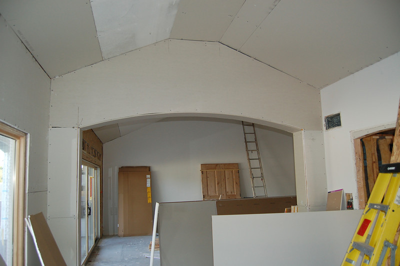 Another view of the dining room, looking into the living room.