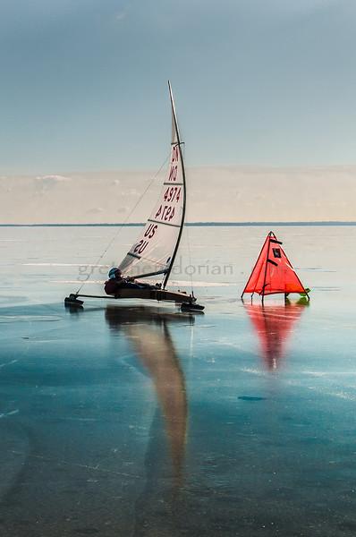 2014 Houghton Lake - December - DN Iceboats