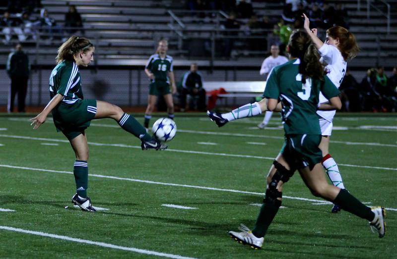 "Katrina ""Kat"" Neir,  Alex Blaser  Woodinville High Girls Varsity Soccer verse Skyline High October 20, 2011, ©Neir"