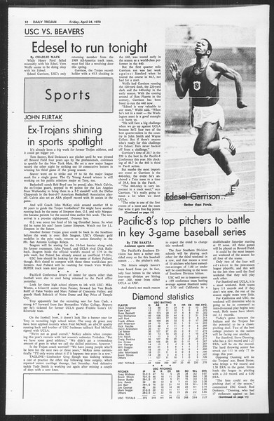 Daily Trojan, Vol. 61, No. 112, April 24, 1970