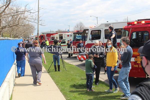 4/19/20 - Allegiance Hospital appreciation parade
