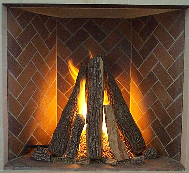 Rumford Tipi - Tall Logs in Vertical Stack