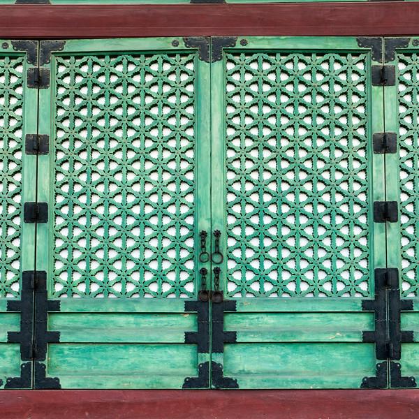 Details of closed door of Geunjeongjeon (Throne Hall), Gyeongbokgung Palace,�Jongno District,�Seoul, South Korea