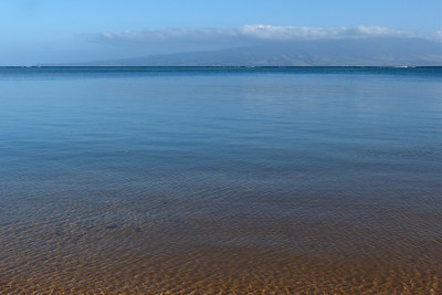 Calm  Water Inside the Reef - Maui in the Background
