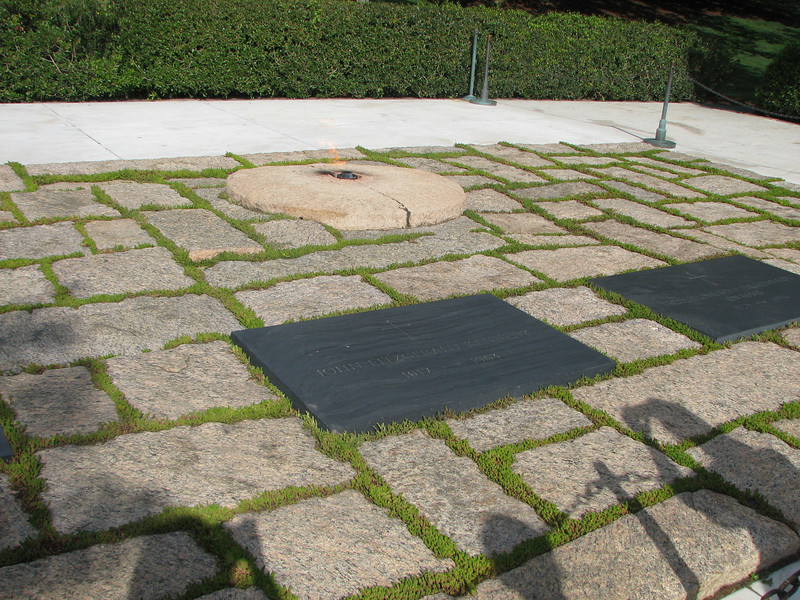 """JFK's eternal Flame. Only 2 presidents are buried at Arlington. A few months before he was shot, JFK & Jackie visited. He surveyed the grounds, sighed and declared """"I could just stay here forever."""" Jackie remembered this and had him laid to rest here."""