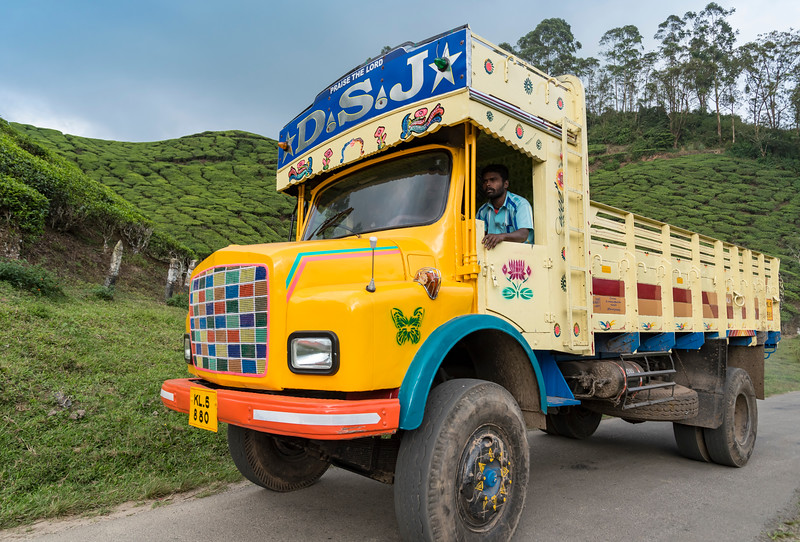 Colourful Indian Truck, Munnar