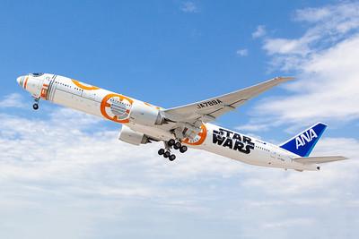 ANA's Star Wars BB-8 777 at Washington Dulles International Airport