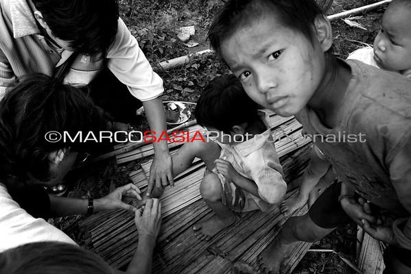 Thayland Karen jungle Refugee