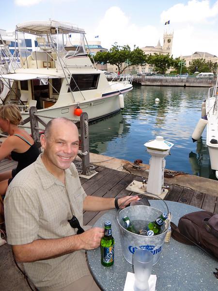 Bargain beers (4 for $6)  - Bridgetown, Barbados