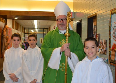 Mass with Bishop Coyne (1.11.16)