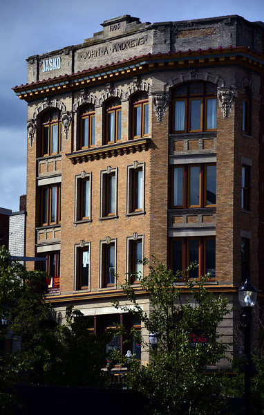 9/26/2015 Mike Orazzi | Staff The John A Andrews Building, built in 1903, is a five story landmark located on Main Street New Britain.